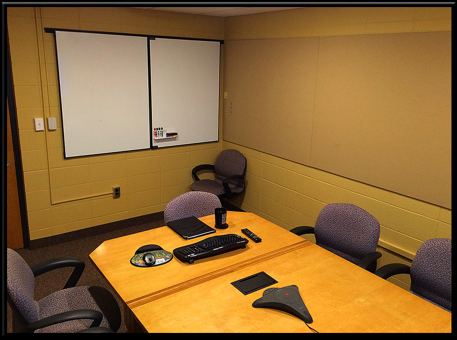 Employees can choose from digital means of communicating, or whiteboards, or fabric covered tackboards