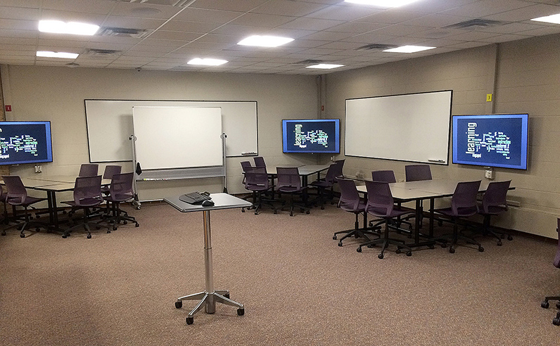 Sandbox Classroom - mobile whiteboards provide further writable surfaces
