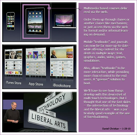 Some thoughts on the potential (positive) impact of the iPad on education