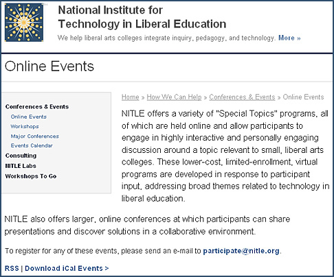 NITLE's online events