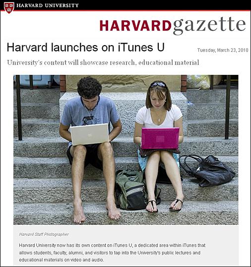 Harvard launches on iTunes U