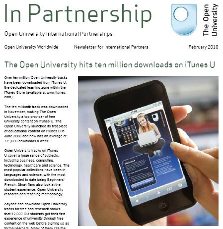Open University hits 10 million downloads on iTunes U