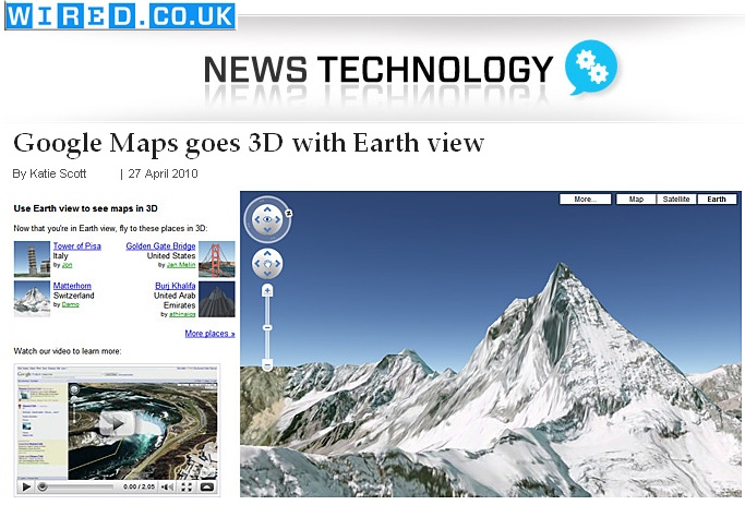Google Maps goes 3D with Earth view -- from wired.co.uk