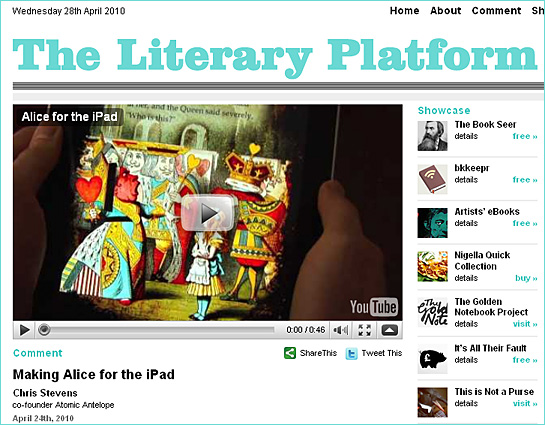 New blog: The Literary Platform