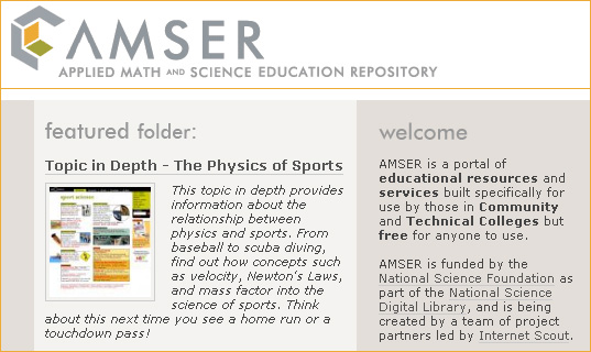 AMSER.org -- Applied Math & Science Education Repository