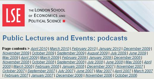 London School of Economics Public Lectures