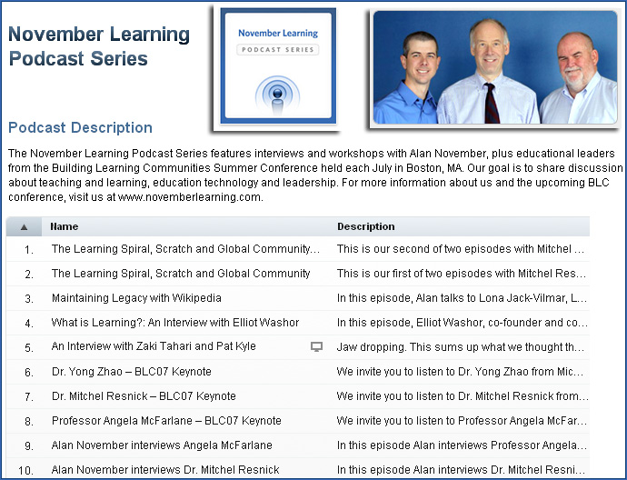 November Learning Podcasts Series