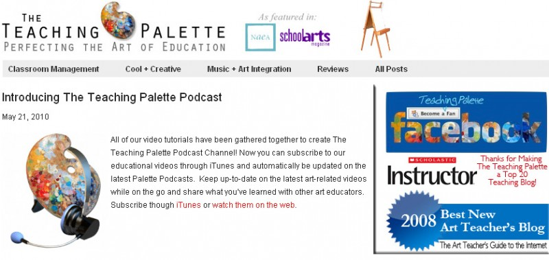 The Teaching Palette now has a podcast -- Art and & K-12 related
