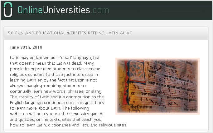 50 fun and educational websites to keep Latin alive!