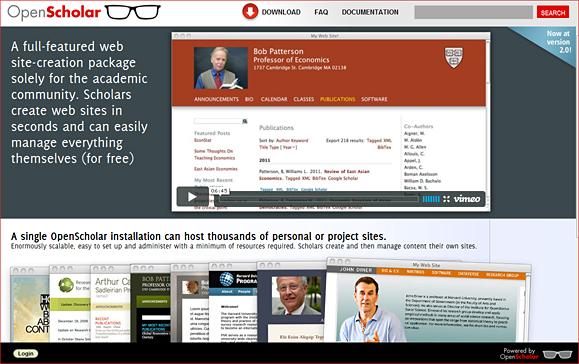 Open Scholar -- by Harvard U.