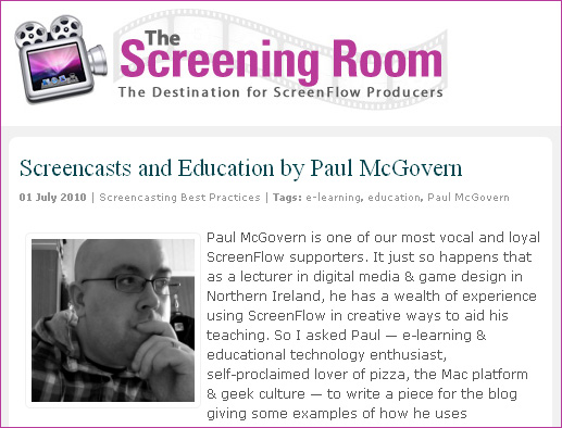 Screencasts and Education by Paul McGovern