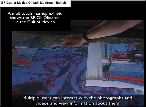 BP oil spill -- multitouch-mashup