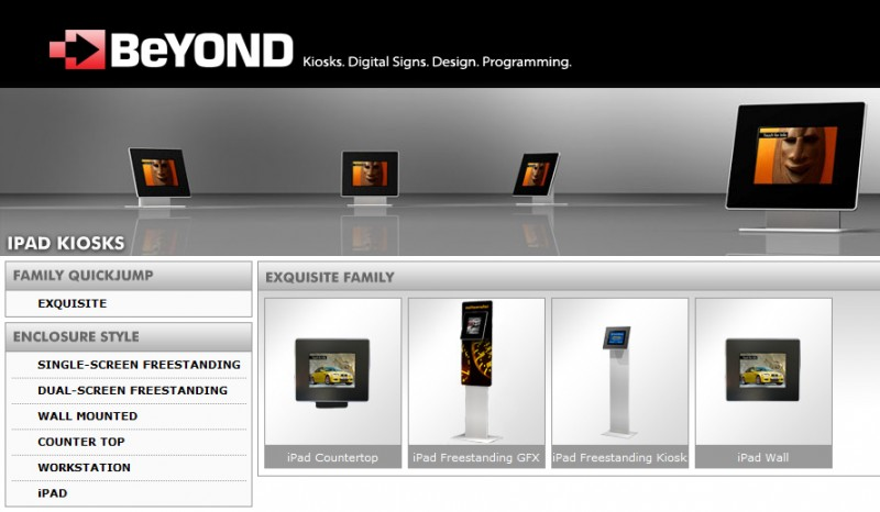 iPad Kiosks from BeyondKiosks.com