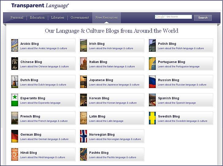 Language blogs around the world