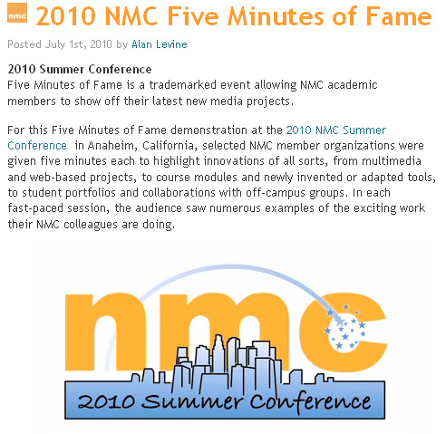 NMC's 5 Minutes of Fame