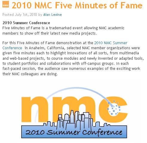 NMC's 5 Minutes of Fame