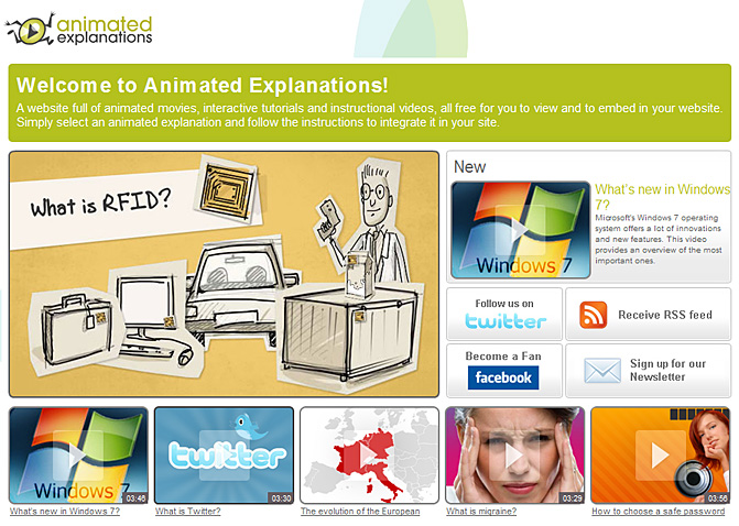 Animated Explanations