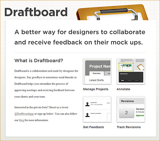Draftboard.com -- for designers by designers
