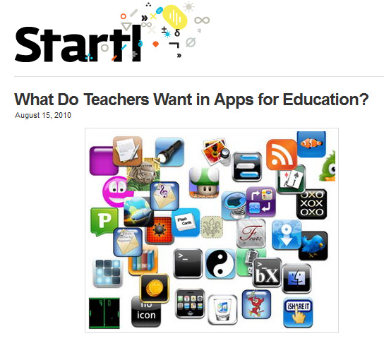 What do teachers want in apps for education?