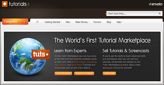 tutsplus.com: A worldwide tutorial marketplace