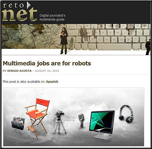 Multimedia jobs are for robots