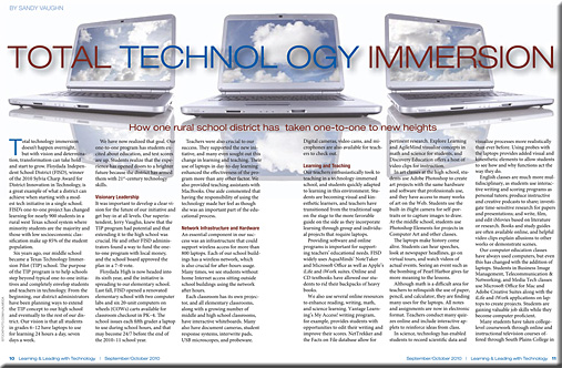 Total technology immersion -- from Sept/Oct 2010 Learning & Leading withi Technology