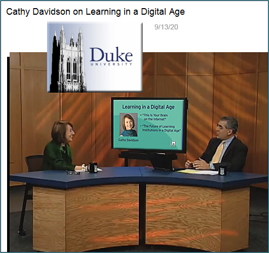 Cathy Davidson on Learning in the Digital Age -- on 9-13-10