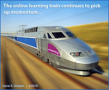 The online learning train continues to pick up momentum