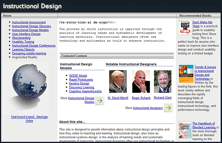 Richard Culatta's website re: Instructional Design