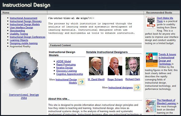 Richard Culatta's website re: Instructional Design