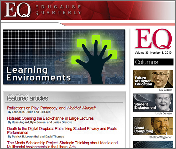 Educause Quarterly -- 33, 3 -- Fall 2010