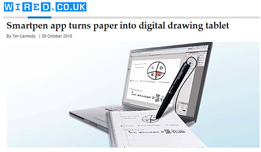Smartpen app turns paper into digital drawing tablet