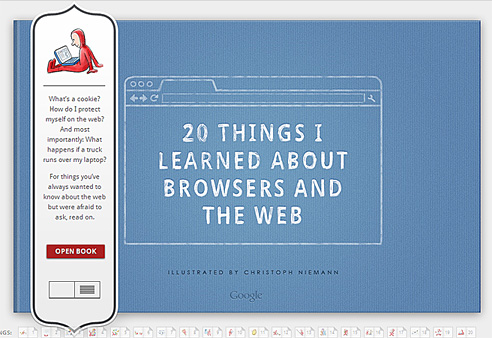 Interactive book: 20 things I learned about the web -- from Google in Nov 2010
