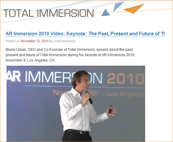 AR Immersion 2010 Video: Keynote: The Past, Present and Future of TI