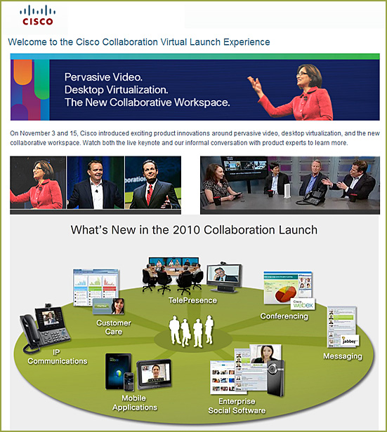 Cisco Product Announcements and Demonstrations
