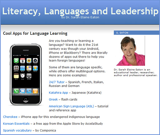 Cool Apps for Language Learning