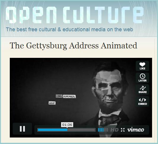 The Gettysburg Address Animated