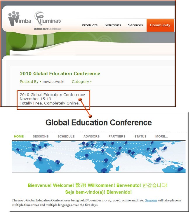 Global Education Conference -- free, online, begins 11/15