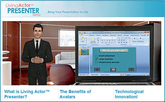 Living Actor Presenter