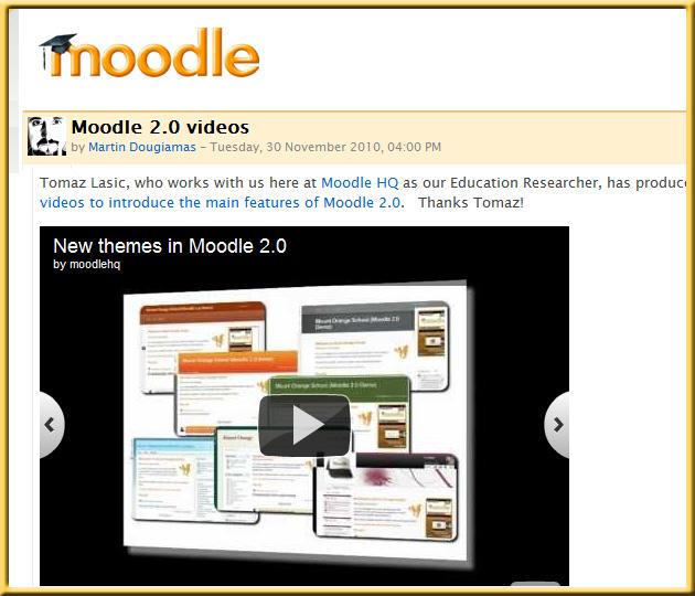 Moodle 2.0 videos