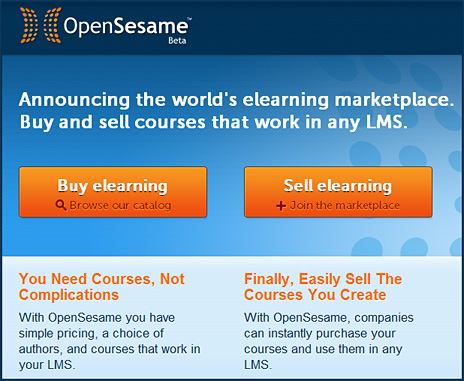 OpenSesame -- another online-based marketplace for learning appears on the scene