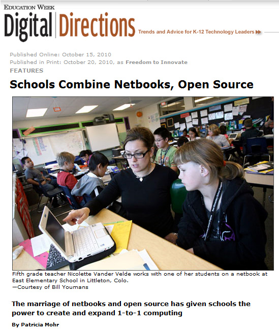 Schools combine netbooks and open source