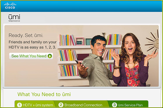 Umi from Cisco -- high def videoconferencing