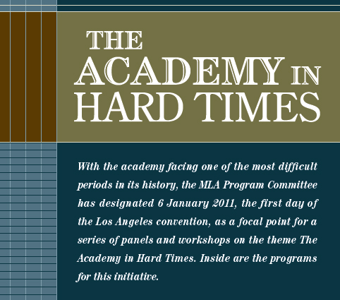 The academy in hard times