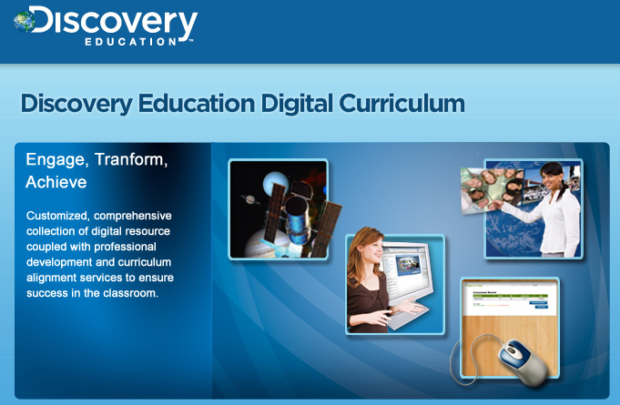 Discovery Education Digital Curriculum - as of Dec 2010/Jan 2011