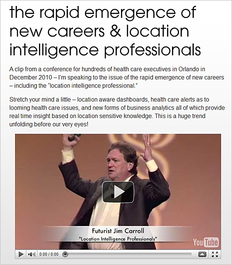 The rapid emergence of new careers & location intelligence professionals