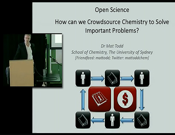 Crowdsourcing chemistry -- April 2010 presentation at Google Tech Talk -- by Dr Matthew Todd, School of Chemistry, University of Sydney