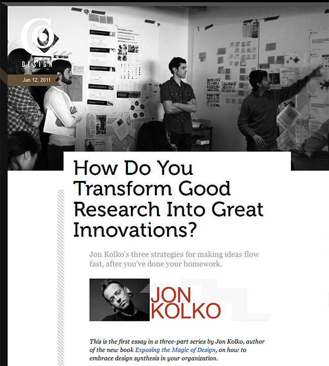 How do you transform good research into great innovations?