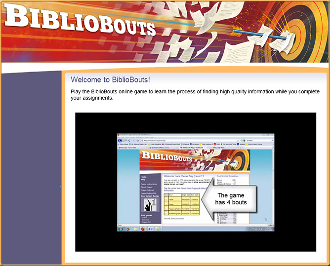Bibliobouts -- a game to help students find high-quality sources