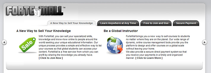 Forte Mall -- an online learning marketplace